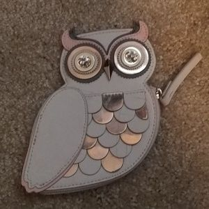 Kate Spade ... Owl Jewled eyes coin purse New